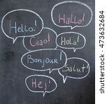 Hello In Many Languages  Chalk...