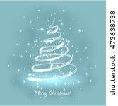 magic christmas tree. light... | Shutterstock .eps vector #473638738
