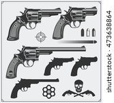 Collection Of Guns. Revolvers ...