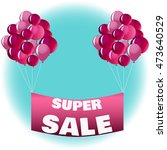super sale vector banner  | Shutterstock .eps vector #473640529