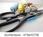 a collection of sewing tools... | Shutterstock . vector #473642728