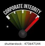 corporate integrity meter sign...   Shutterstock .eps vector #473647144