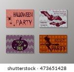 halloween. vector banner design ... | Shutterstock .eps vector #473651428