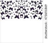 mandala of butterflies pattern... | Shutterstock .eps vector #473651869