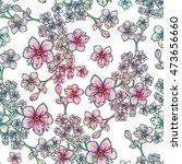 fresh spring floral seamless... | Shutterstock .eps vector #473656660