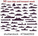 50 vector icons of marine... | Shutterstock .eps vector #473660503