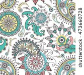 ornamental seamless pattern.... | Shutterstock .eps vector #473660728
