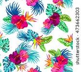 vector seamless floral pattern... | Shutterstock .eps vector #473662303