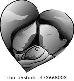 black and white illustration...   Shutterstock .eps vector #473668003