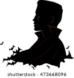 black and white illustration... | Shutterstock .eps vector #473668096