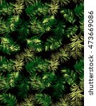 seamless pattern with palm... | Shutterstock . vector #473669086