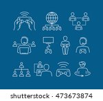 vector video games icons | Shutterstock .eps vector #473673874