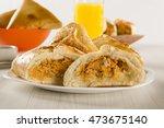 brazilian snack. chicken esfiha ... | Shutterstock . vector #473675140