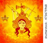 vector design of goddess durga... | Shutterstock .eps vector #473675968