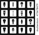 light bulb icons set in simple... | Shutterstock .eps vector #473678479