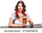beautiful young brunette girl... | Shutterstock . vector #473690650
