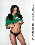sexy brunette young woman... | Shutterstock . vector #473692570