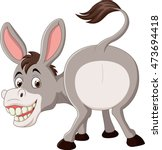 Cartoon Funny Donkey Mascot
