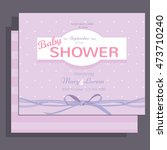 baby shower invitation rose... | Shutterstock .eps vector #473710240