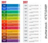 2017 calendar  print template...   Shutterstock .eps vector #473710489