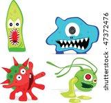 microorganisms. vector... | Shutterstock .eps vector #47372476