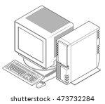 an old vintage retro obsolete... | Shutterstock .eps vector #473732284
