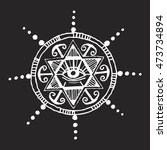 hand drawn ancient esoteric ... | Shutterstock .eps vector #473734894