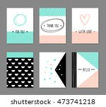 collection  of modern cards... | Shutterstock .eps vector #473741218