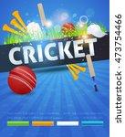 cricket event poster template...   Shutterstock .eps vector #473754466