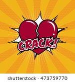 broken heart comics style.... | Shutterstock .eps vector #473759770