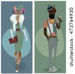 Cute Fashion Characters   Dog...