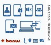 phone icons . blue icon. single ...