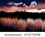 abstract oil painting texture.... | Shutterstock .eps vector #473772958