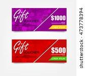 gift voucher template. can be... | Shutterstock .eps vector #473778394