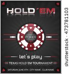 texas hold em poker tournament... | Shutterstock .eps vector #473781103