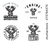 Vintage Motorcycle Repair Logo...