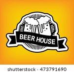 beer logo label vector... | Shutterstock .eps vector #473791690
