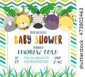 cute baby shower design. vector ... | Shutterstock .eps vector #473802463