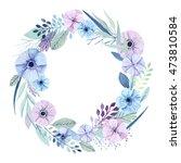 Vector Flower Wreath. Elegant...