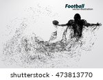 silhouette of a football player ... | Shutterstock .eps vector #473813770