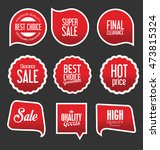 modern sale stickers and tags... | Shutterstock .eps vector #473815324