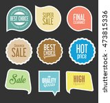 modern sale stickers and tags... | Shutterstock .eps vector #473815336
