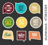 modern sale stickers and tags... | Shutterstock .eps vector #473815369
