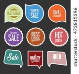 modern sale stickers and tags... | Shutterstock .eps vector #473815396