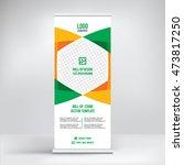 banner roll up design  business ... | Shutterstock .eps vector #473817250