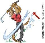 vector cartoon clip art... | Shutterstock .eps vector #473819794