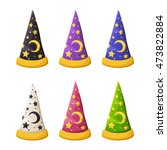vector set of colorful wizard's ... | Shutterstock .eps vector #473822884
