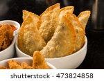 brazilian snack. meat pastry. | Shutterstock . vector #473824858