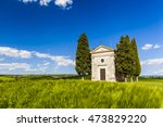 tuscany landscape with a little ...   Shutterstock . vector #473829220