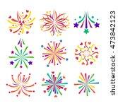 festive firework bursting shape ... | Shutterstock .eps vector #473842123